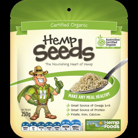 Organic Hulled Hemp Seeds 250g